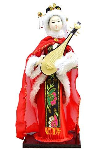 Chinesische Qing-Dynastie Geisha-Puppe Vintage Sushi Bar Dekor Puppe Figur B03