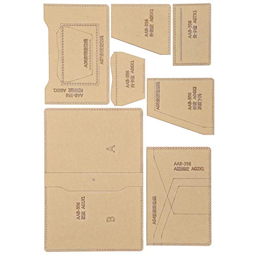 Ichiias Pochoir de Sac à Main, Artisanat Bricolage Outil Passeport modèle Portefeuille Moule Outil Sac à Main modèle, Acrylique...
