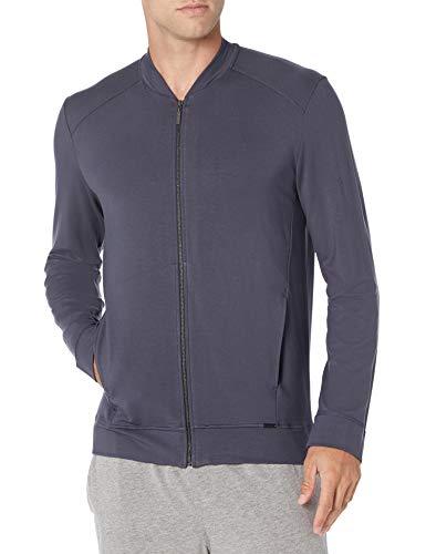 Hanro Herren Relax Zip Jacket Pyjama-Oberteil (Top), Blau-Smoky Blue, XX-Large