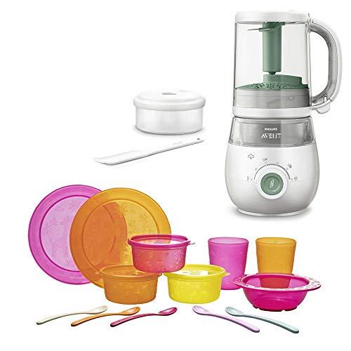 Philips Avent Easypappa 4-in-1 & NIP Beikoststart Set GIRL // neues Model SCF 885/01 Dampfgaren + Mixen + Aufwärmen + Auftauen von selbstgemachten Gerichten
