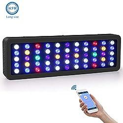 Roleadro-WiFi-Aquarium-Beleuchtung-LED-165W-Dimmbar-LED-Aquarium-Beleuchtung-Groe-Gre-Led-Meerwasser-mit-Weiem-LichtBlauem-MondlichtBlauem-LichtOzean-Modus-Licht-0-100-Helligkeit