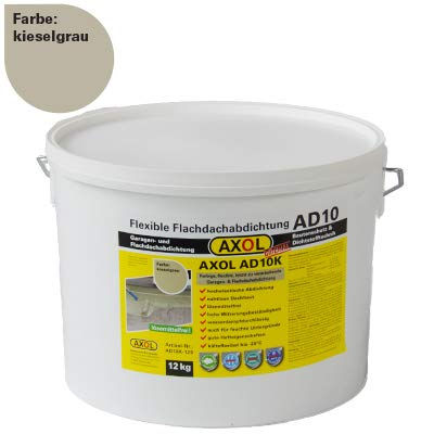 AXOL Flachdachabdichtung, Garage abdichten mit AXOL AD10 12 kg Flüssigkunststoff Farbe kieselgrau