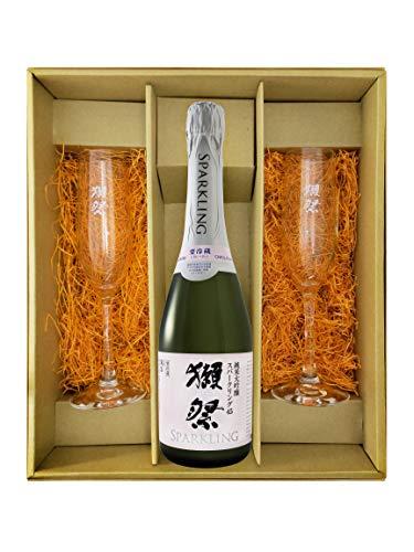 〔セット商品〕獺祭 ( だっさい ) 純米大吟醸 スパークリング45 720ml + 獺祭 フルートグラス 2個セット