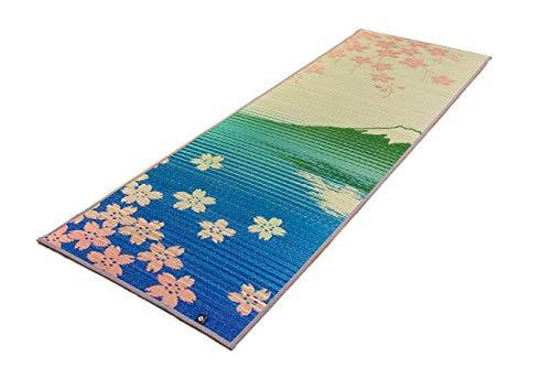 Tatami Yoga and Meditation Mat Non-slip 0.25 inch / 6mm, Japanese made, Natural Relaxing Igusa Scent - Sakura Fuji