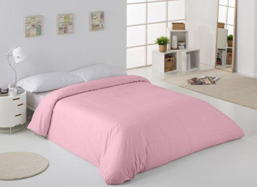 ESTELA - Funda nórdica Combi Color Rosa - Cama de 90 cm. - 50% Algodón / 50% Poliéster - 144 Hilos