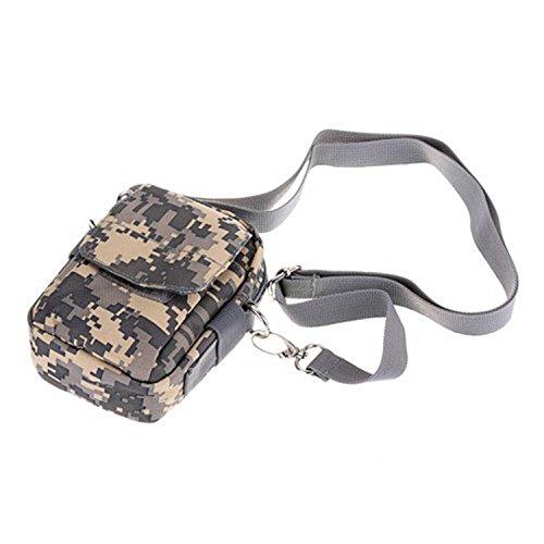 ruifu extérieur tactique militaire Sac Ceinture de randonnée/Camping/Téléphone portable pochette sac étanche Porter Résistant ACU