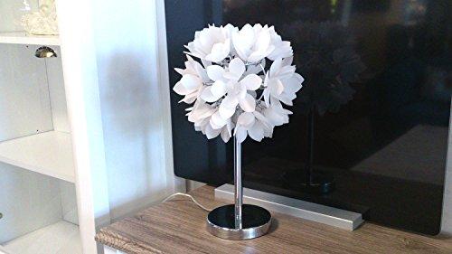 Tischlampe Dekoration Tischleuchte Nachttischlampe Acryl Frostoptik Blätter