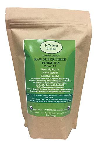 Jeff's Best Blends! RAW Organic Super Fiber Formula! 227 Grams/8 oz.