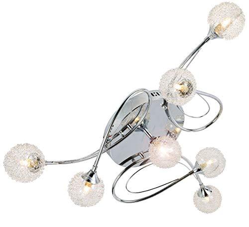LED design lampadario per il soggiorno sospeso illuminazione plafoniera soffitto luce sospensione 7x G9 incl. led lampadini XXL Ø85cm