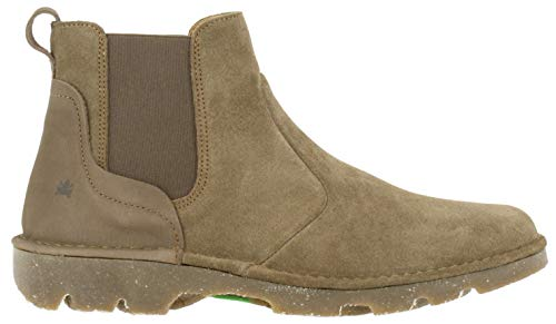 El Naturalista Damen Stiefeletten Forest, Frauen Chelsea Boots, flach Lady Ladies Women's Women Woman Freizeit leger,Braun(Land),41 EU / 8 UK
