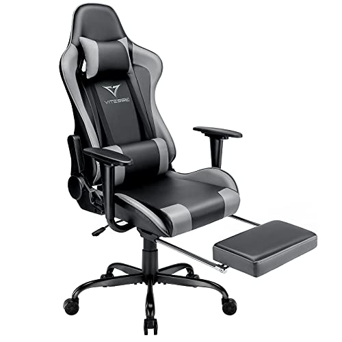 Vitesse Gaming Chair with Footrest Computer gaming Chair 400lbs Game Chair for Teens Ergonomic...