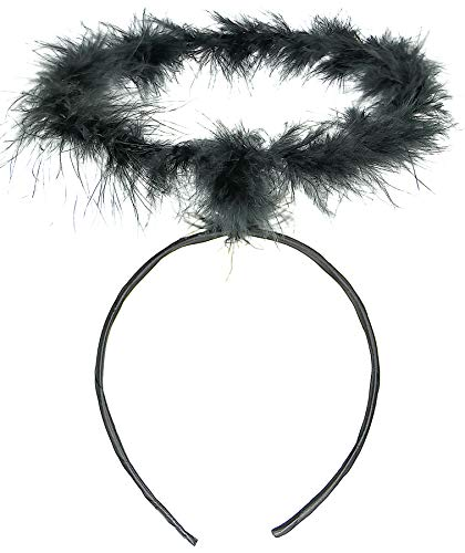 Balinco Haarreif Heiligenschein schwarz | Haarreifen Engel | Christkind - das perfekte Accessoire für Damen, Herren & Kinder als Ergänzung zum Engelskostüm