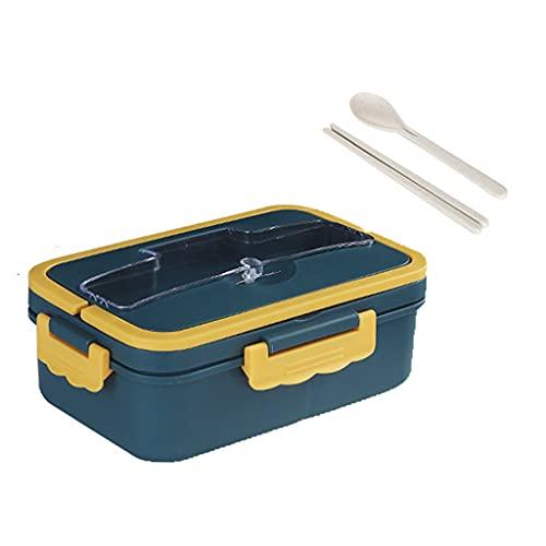 Baoblaze Bento Lunch Box Lunch Container Proof 1000ml Almacenamiento de Gran Capacidad para Adultos Niños Picnic al Aire Libre - Azul Marino