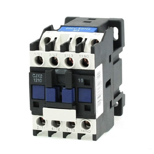 DealMux CJX2-1210 20 Amp 3-Pole 1NO 220V Coil 3 Fase de control de motores AC Contactor