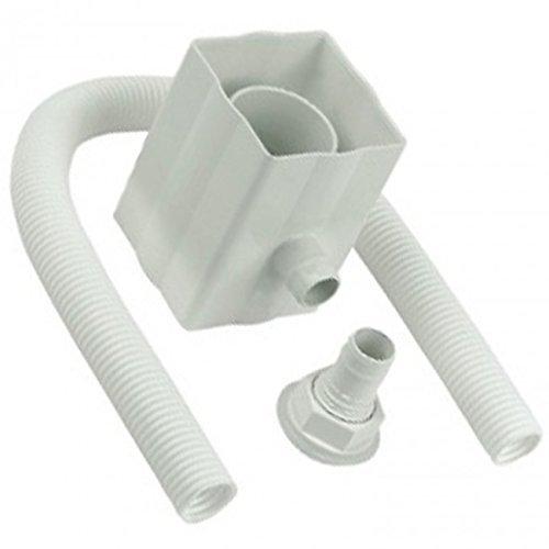 Kit de desviador de agua de lluvia, de color blanco, compatible con bajantes cuadradas y redondas