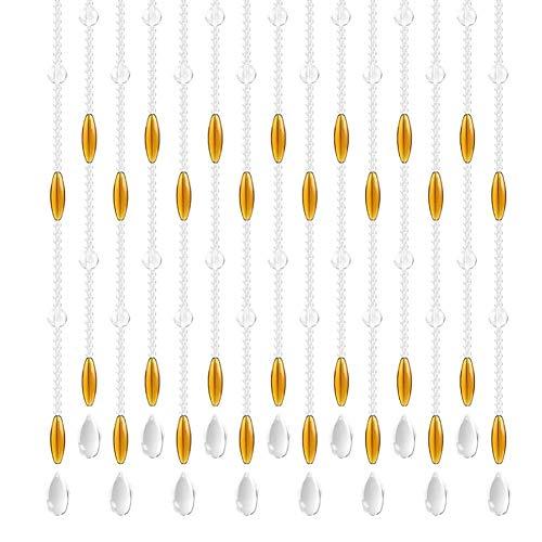 ZXL glas kristal gordijn kralen gordijn opknoping snaren deurpaneel woonkamer scheidingswand decoratie (kleur: duidelijk, Grootte: 25 strengen-80x180cm)