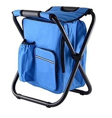 LYzpf Sac à Dos Plus Chaise Frais Isotherme à Glacière Cooler Backpack Bag Grande Capacité Portable Backpack pour Déjeuner Plage Pique-Nique Camping BBQ,Blue