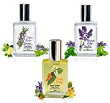 """Nutravana Remedy Trio Gift Set:""""Headache Relief"""" """"Stress Relief"""" """"Fatigue Buster"""" (3 x 15ml Roll-ons in Box) All Natural Health Spa Bliss for Women Men Mom Dad Girls or Get Well - Safe for Kids"""