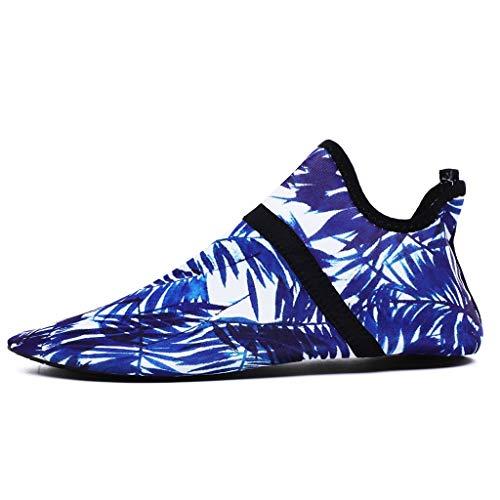 WXYPP Zapatos de Agua Zapatos de Playa para Hombres y Mujeres Secado rápido Descalzos Calcetines de Agua Secado rápido Calcetines De Agua (Color : Blue A, Size : 41EU)