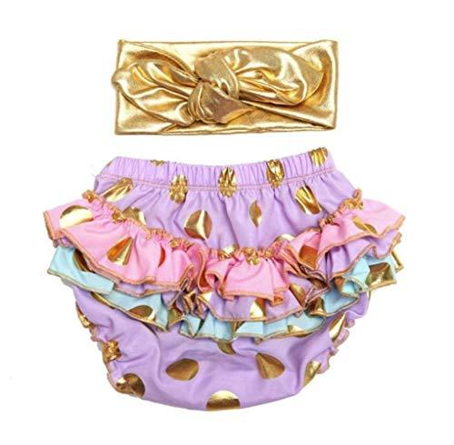 micia luxury(ミシアラグジュアリー) ベビーおむつカバー&ヘアバンド ケーキスマッシュ ハーフバースデー 誕生日 ギフト 24month ラベンダー×マルチカラー