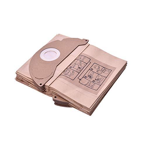 Gulongome Paquete de 10 bolsas al vacío Dustbag para Karcher A2000 A2099 y WD2.000 - WD2.399 - Ref 6.904-322.0