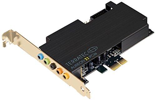 TERRATEC AUREON 7.1 PCIe PC Soundkarte intern 8-Kanal – optischer Ein-Ausgang für AC3 und DTS - für bis zu 8 Lautsprecher - analoge und Digitale Audiogeräte