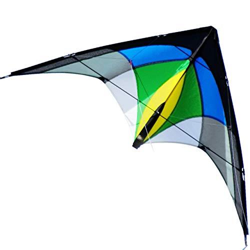 CIM Stuntvlieger - 1-2-SEVEN Cool - Dimense: 104cm x 52cm - Vlieger - Tweelijn Stunt Kite - inclusief Vliegersnoer - vliegerkoord - voor mensen vanaf 8 jaar