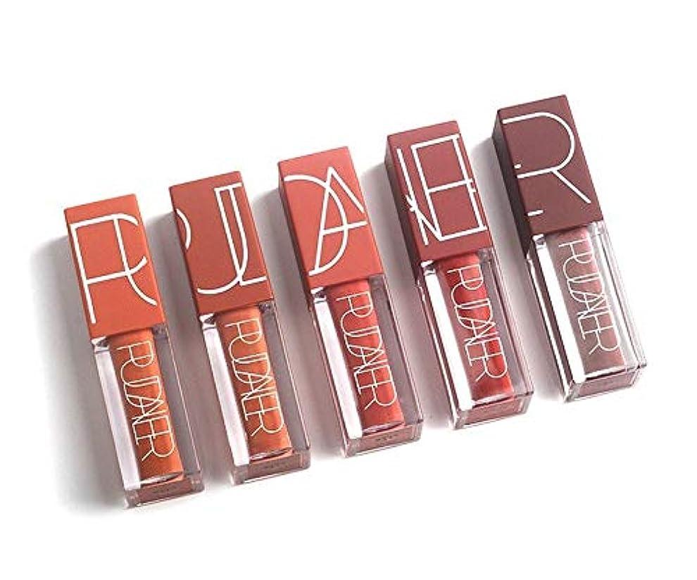 最近ルーフ不愉快Red Velvet Matte Liquid Lipstick Lip Gloss Set Waterproof Lasting 5 Colors Lipgloss Set Pumpkin Color Lip Tint Kit By Ni Yom Thai shop