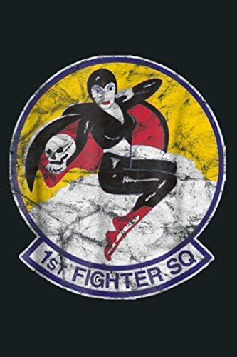 1St Fighter Squadron Vintage Patch Insignia: Notebook Planner - 6x9 inch Daily Planner Journal, To Do List Notebook, Daily Organizer, 114 Pages