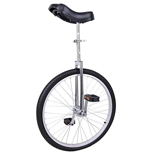 "24"" Wheel Unicycle Toys & Games Tricycles Scooters & Wagons Sports & Outdoors Outdoor Recreation Cycling Bike Silver Sports Game Outside Exterior Outdoor Outer Outward Sporting"