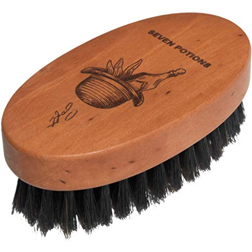 Seven Potions Boar Bristle Beard Brush For Men — Made of Pear Wood...