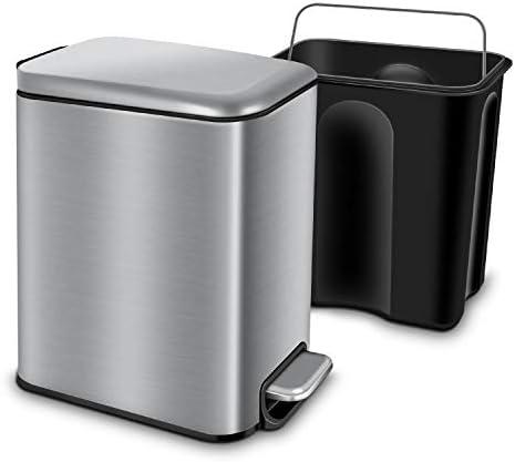 Best Kohler semi round 11 9 gallon stainless steel trash can for bathroom