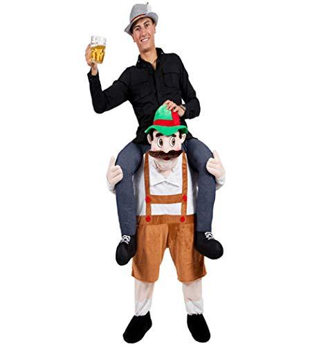 Halloween Carry Mascot Me Ride On Beer Guy Oktoberfest Costume Ride on Costume