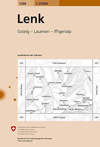 Swisstopo 1 : 25 000 Lenk (Landeskarte Der Schweiz)