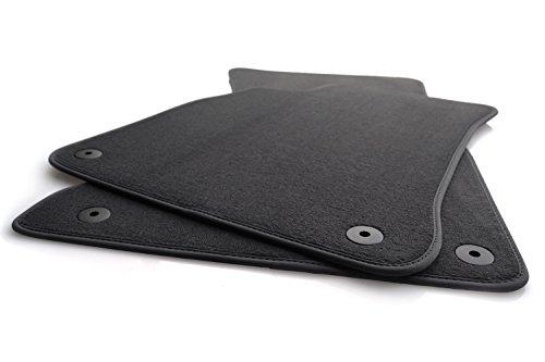 Fußmatten passend für A4 B8 A5 Velours Automatten Premium Qualität 2-teilig vorne anthrazit