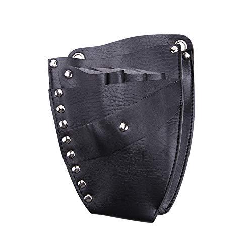 Nicejoy Bolsa de herramientas de peluquería con diseño de espárragos profesional para tijeras de estilista en la cintura.