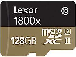 top 10 lexar 128gb microsdxc Lexar Professional 1800x 128 GB MicroSDXC UHS-II Card (LSDMI128CBNA1800A)