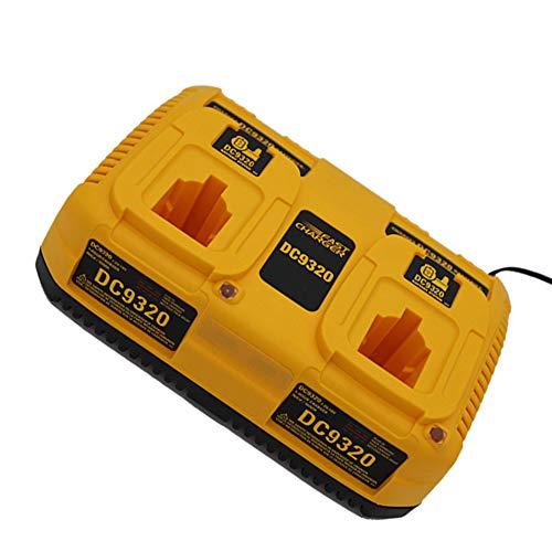 DC9310 para Dewalt 7,2 V-18 V puerto de cargador dual, batería Ni-CD y Ni-MH DC9096 / DC9098 / DC9099 / DW9099 / DE9095 / DC9091 baterías