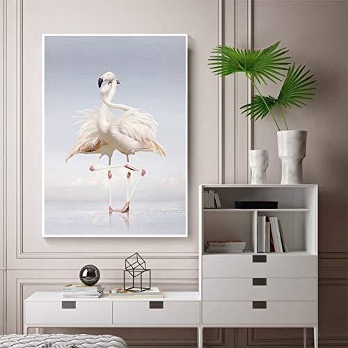 SADHAF Nordic Home Art Deco Poster Wohnzimmer Dekoration Liebhaber Flamingo Wandbild Raumdekoration A1 30x40cm