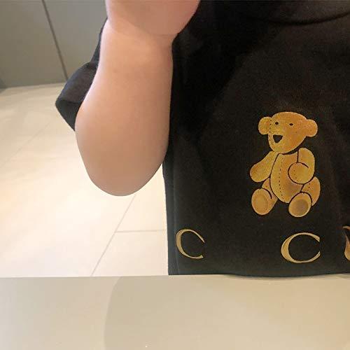 Lámina de oro ropa de algodón estampado marca Tide GU oso camiseta...