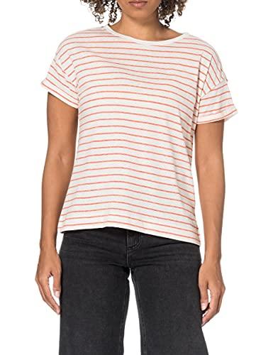 ESPRIT Damen 041EE1K364 T-Shirt, 635/ORANGE RED, S