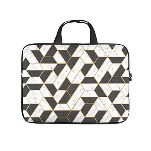 Laptop Bag Geometric Pattern Scratch Resistant Fashionable Laptop Bag Compatible with 13-15.6 Inch Notebook