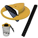 MPGIO Slide Bucket Lid Mouse/Rat Trap with Ramp(1Pack), Auto Reset Multi Catch for Indoor Outdoor, Compatible 5 Gallon Bucket, Mouse Trap Compatible, Humane or Lethal Bucket Tra