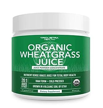 raw wheatgrass juice powder