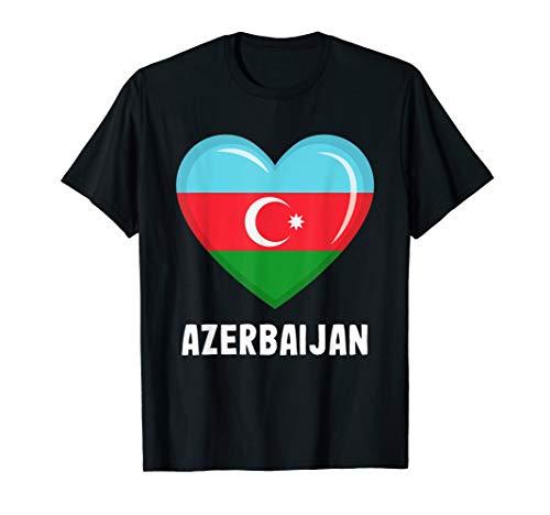 Trikot mit aserbaidschanischer Flagge | Aserbaidschanisch T-Shirt