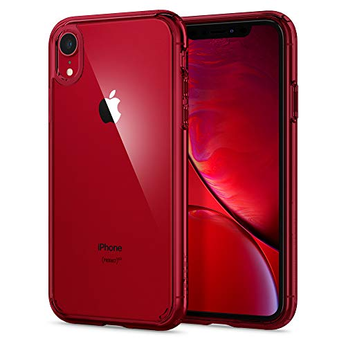 Spigen Funda Compatible con iPhone XR [Ultra Hybrid] Tecnología Air Cushion y protección híbrida de la caída para iPhone XR - Rojo