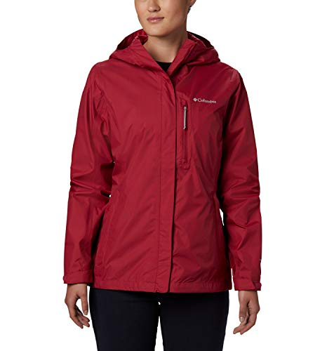 Columbia Pouring Adventure II, Chaqueta impermeable, Mujer, Rojo oscuro (Red Orchid), M