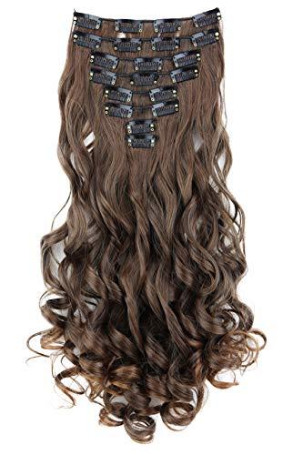 PRETTYSHOP XL 7 parti Clip In Extension SET 70cm estensioni dei capelli a pressare diritto o variazioni di colore CE9-1