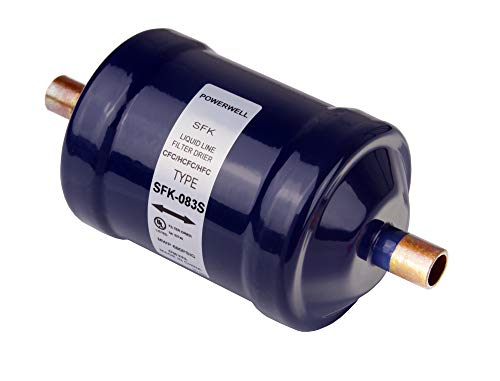 PowerWell Refrigerant Filter Drier Bi-Flow Liquid Line 3/8 Sweat SFK-083S for CFC HCFC HFC Heat Pump or Straight Cool Air Conditioners from 1 to 5 Tons