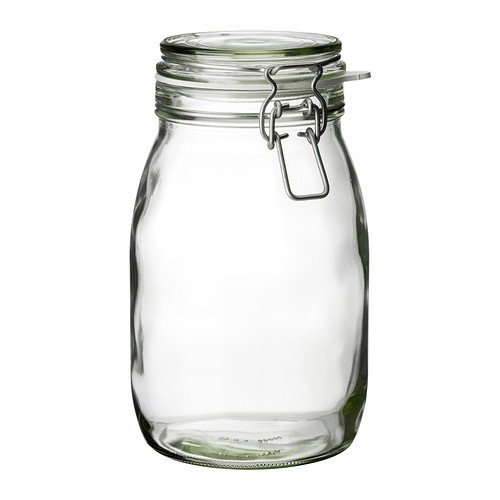 IKEA KORKEN - Jar with lid, clear glass - 1.8 l